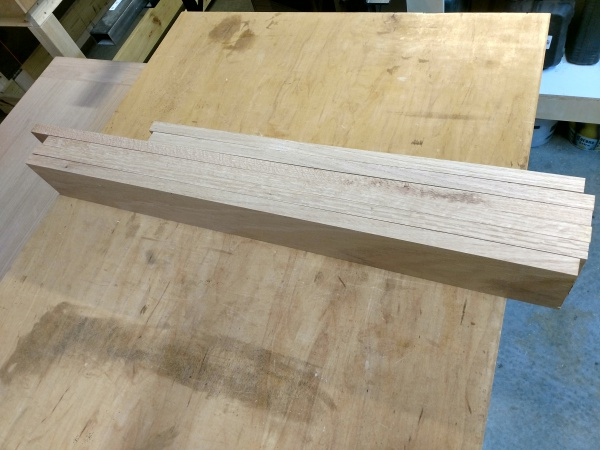 "Rough cut 3/4"" boards"