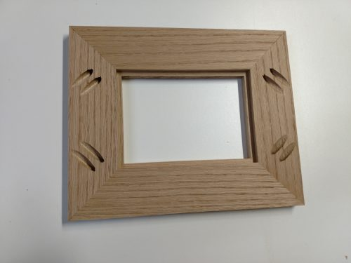Head on shot of all picture frame joints complete