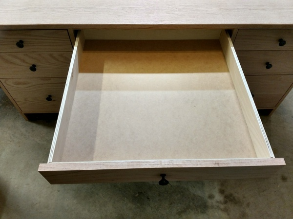 Front-top view of drawer extended