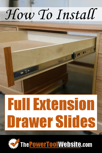 Install full extension drawer slides
