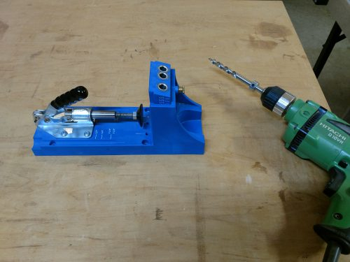 Kreg Pocket Hole Jig and hitachi drill