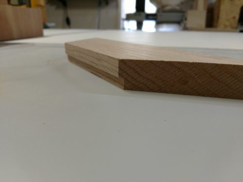 Rabbet cut in wood after one pass on table saw