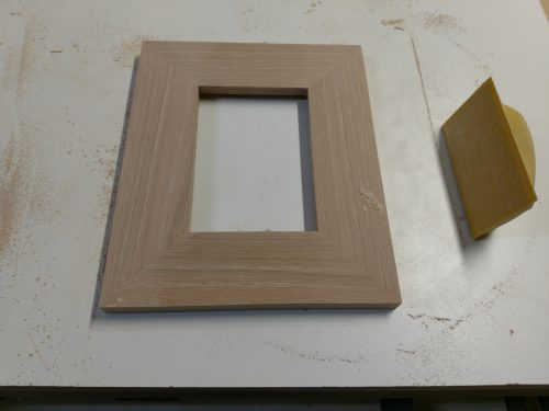 Picture frame after being sanded smooth