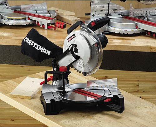 Crafstman 10 inch miter saw on the job