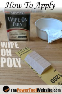 How to apply wipe on poly