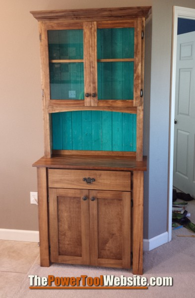 My custom china cabinet I built for my wife