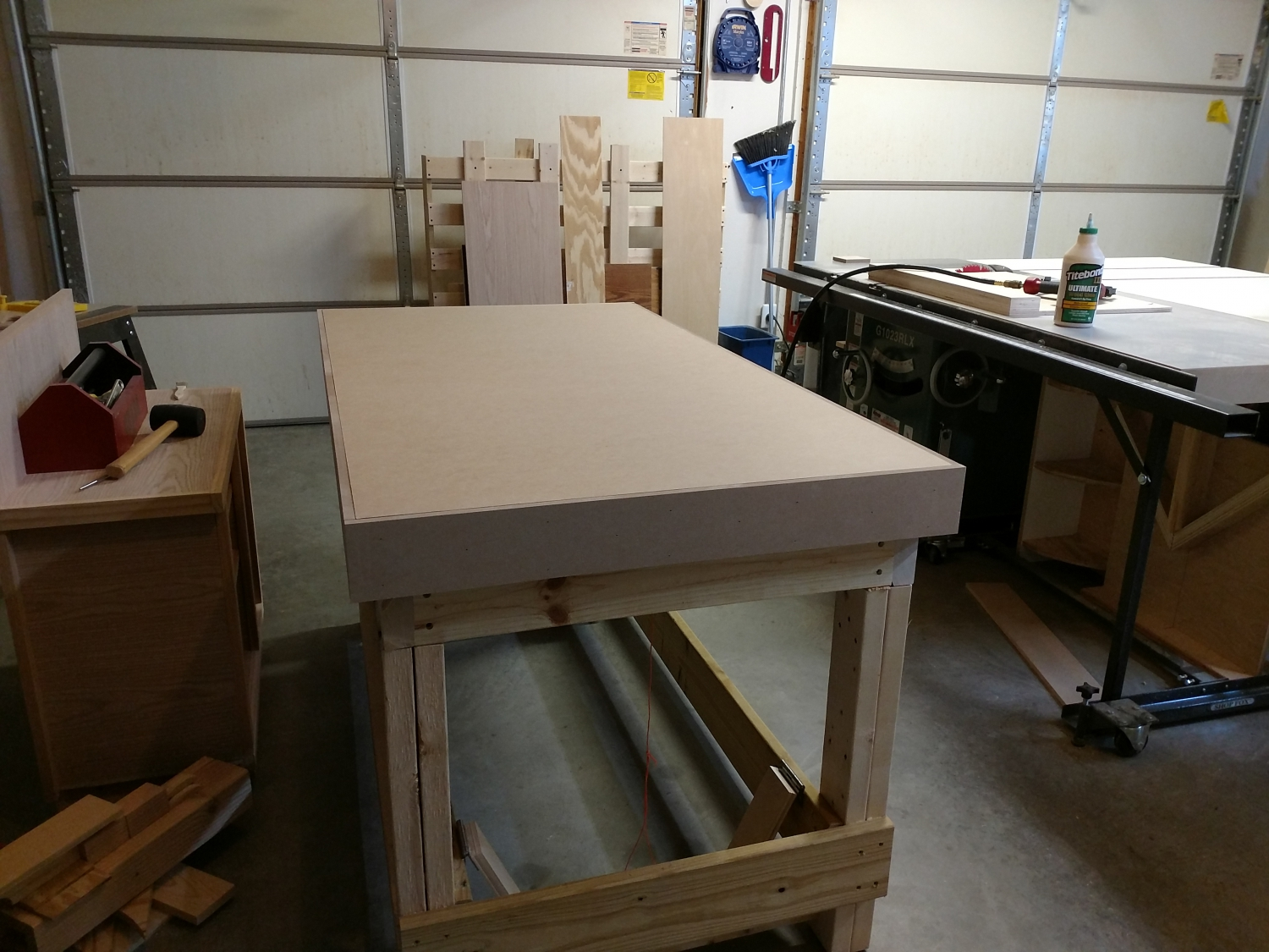 Torsion Box Workbench For My Woodshop - What I Did - With Pictures