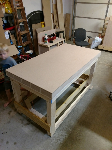 Torsion box with mdf top glued on