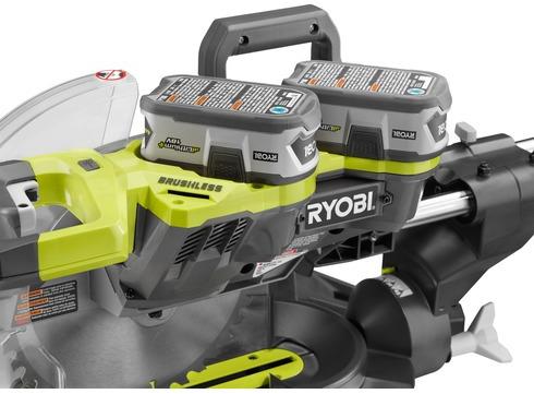 Ryobi cordless miter saw batteries