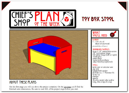 Kids wooden toy box step stool plans