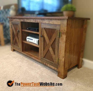 Pine tv console