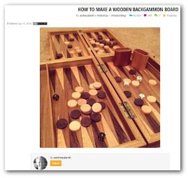 wooden custom backgammon board