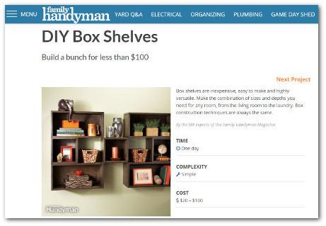 wood project that sells - diy box shelves