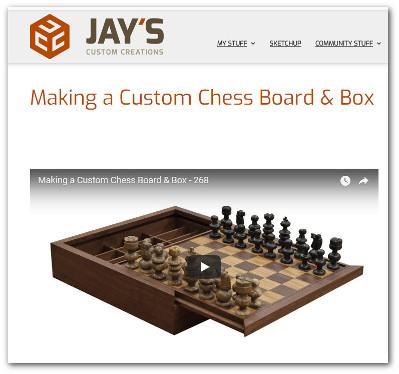 Custom built wooden chess set