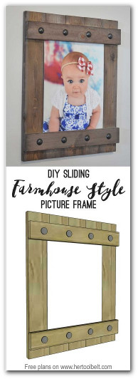 Wooden DIY picture frame