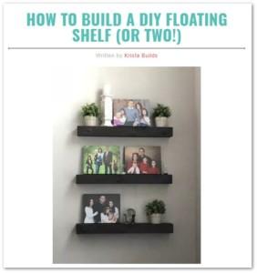 floating-shelf wood project