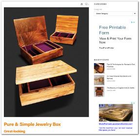 Custom wooden jewelry box
