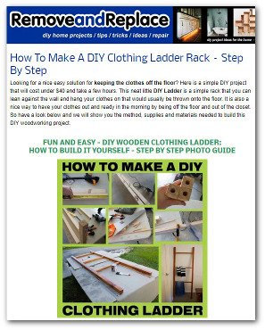 34. Ladder Quilt Rack