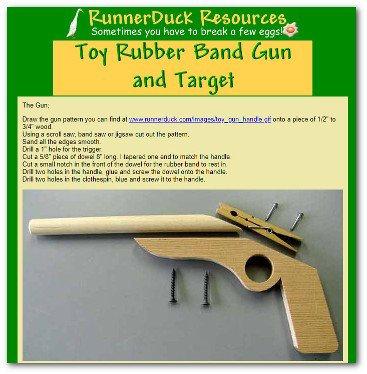 Wooden toy rubber band gun