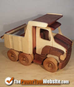 Toy truck I made using a scroll saw