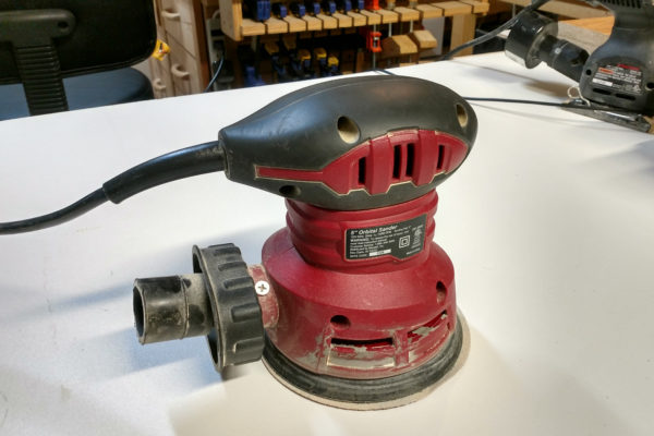 Closeup of my random orbital sander