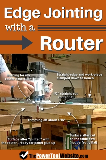 Edge jointing with a router