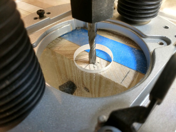 Setting the position of the router sled