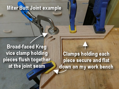 Pocket joinery clamping pieces