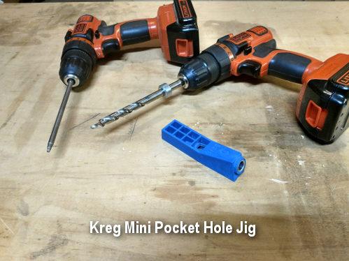 The Kreg Mini pocket hole jig