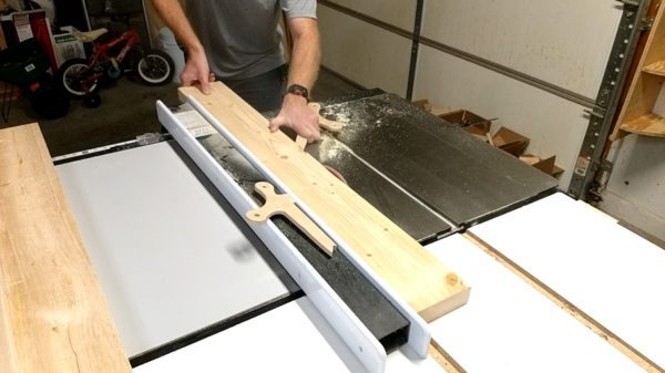 Ripping pine boards to flatten the edges