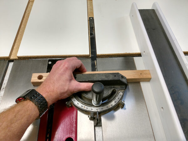 Using scrap wood to tune your table saw fence, step 2