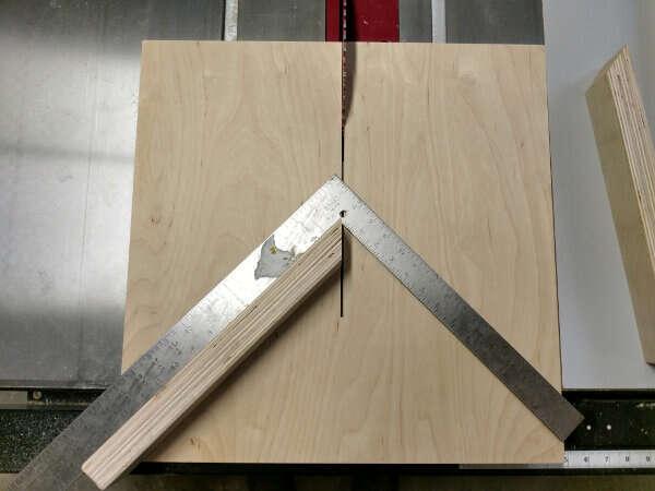Set up the framing square
