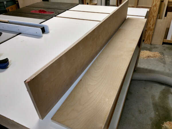 Fence stock before glue up