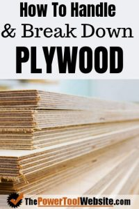 How to handle plywood