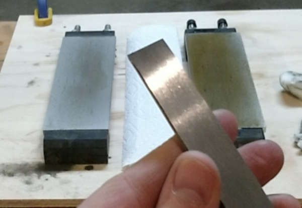 back factory surface of a new chisel