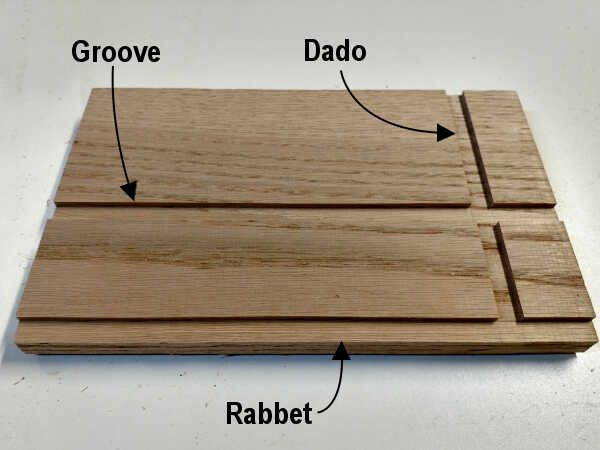 grooves dados and rabbets