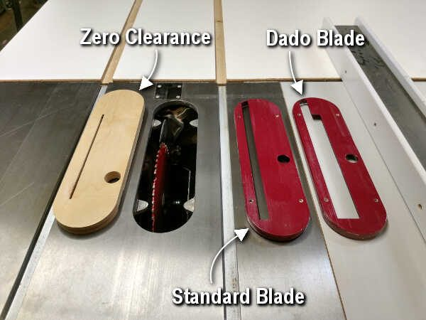 zero clearance throat plate