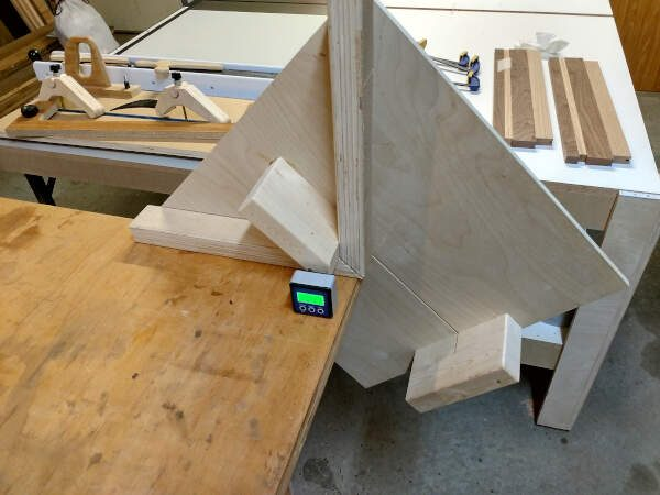 Resting my miter sled on my work bench