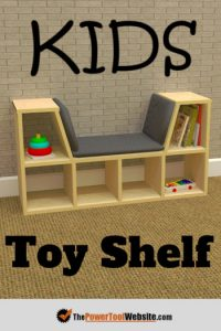 Kids toy shelf
