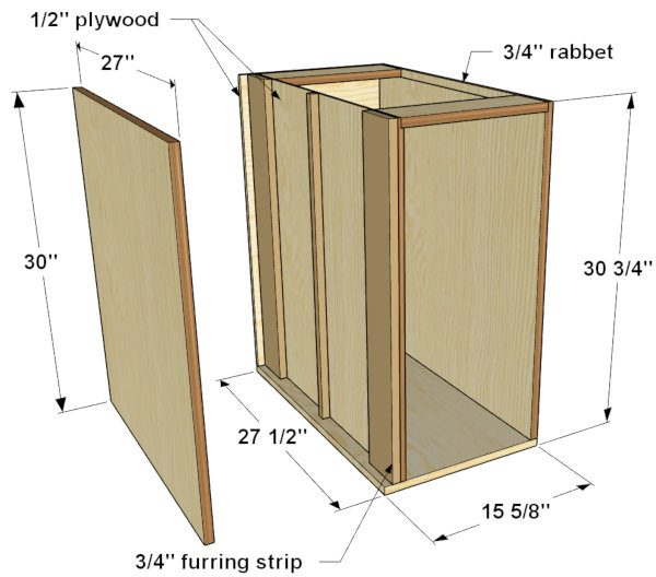 narrow base cabinet dimensions