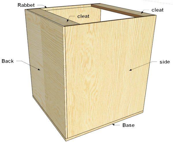 base cabinet layout