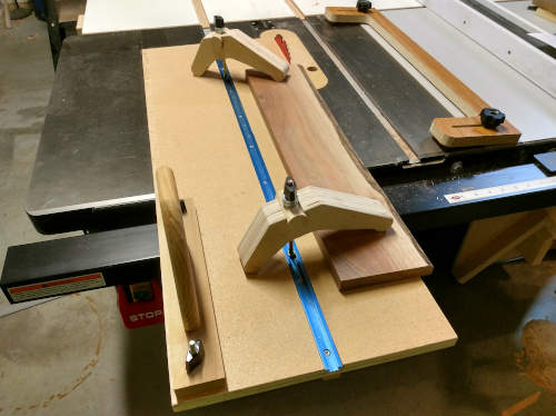 straight edge and jointer sled