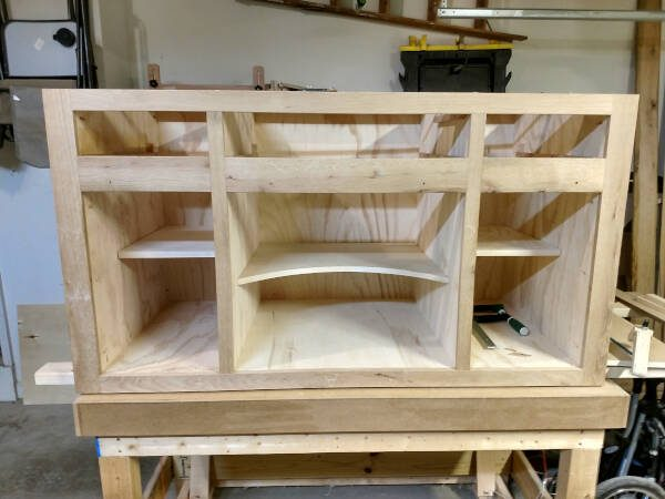 kitchen island trim - face frame dry fit