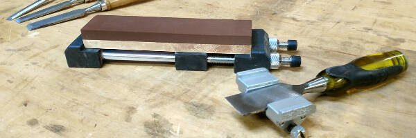 woodworking tools for beginners - chisel and plane iron sharpening kit