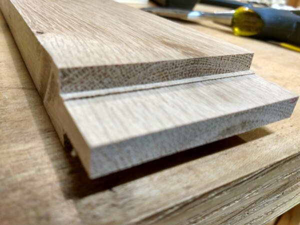 how to build cabinet doors - cleaning up the tongues