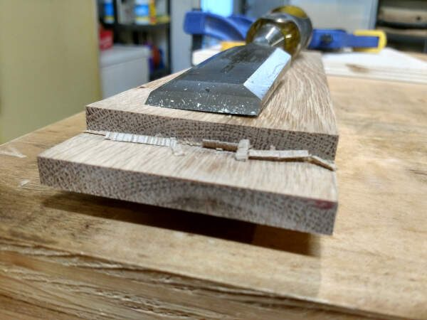 chisel work on the tongues