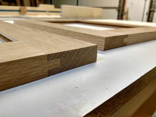 how to build cabinet doors - tongue and groove joinery