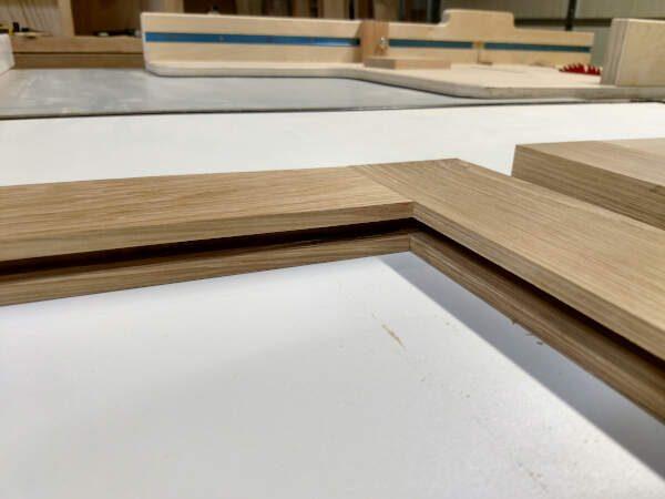 Frame fitting together for cabinet doors