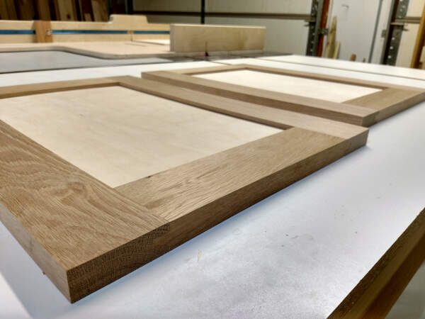 How to build framed cabinet doors - tongue and groove joinery