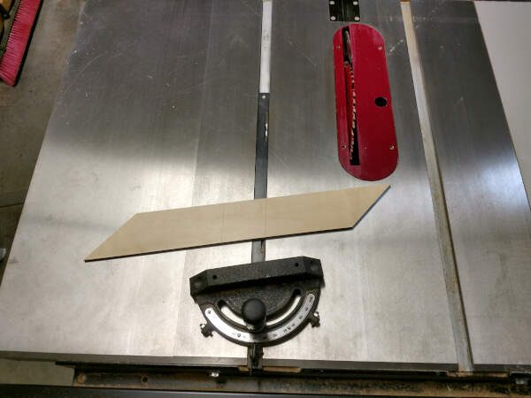 Miter cutting on the table saw